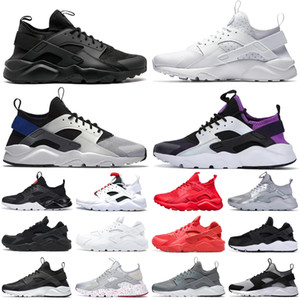 hurache negro al por mayor-Fahion new Huaraches IV Ultra Running zapatos negro blanco Hurache zapatillas para hombres mujeres Multicolor zapatos Triple Huaraches zapatillas tenis
