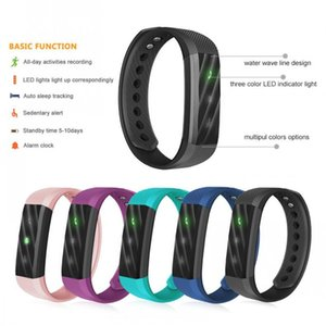 spur dhl großhandel-Neueste ID115 Fitbit TW64 SmartBand Armband mit Digitalthermometer Fitness Track Bluetooth für IOS Android Veryfit Wasserdicht DHL FREE