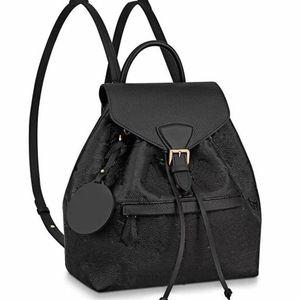 Backpack School Bags Shoulder Bags Removable Shoulder Strap Cowhide Genuine Leather Fashion Letter Pattern String Black High Quality