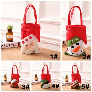 Wholesale promotional items for sale - Group buy 5 Styles Christmas Candy Bags Handbag Ornament Creative Christmas Felt Cloth Gift Bag Santa Christmas Decoration Promotional items DH0299