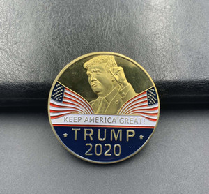 Wholesale crafts resale online - Fashion Donald Trump Commemorative Coin American President Avatar Gold Coins Silver Badge Metal Craft Collection DHD339