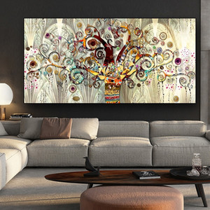 Wholesale tree life canvas print resale online - Gustav Klimt Tree of Life Classical Oil Painting Wall Art Abstract Canvas Art Posters Prints Wall Picture for Living Room Scandinavian Decor