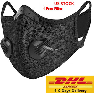 Wholesale filter dust mask for sale - Group buy US STOCK designer luxury Cycling Face Mask Activated Carbon with Filter PM2 Anti Pollution Sport Running Training Protection Dust Mask