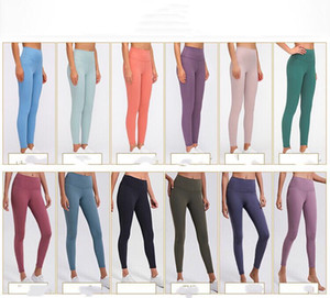 L19108 yoga leggings high waist women yoga pants spandex sports gym Wear leggings Elastic Fitness Lady Overall Full Tights Workout