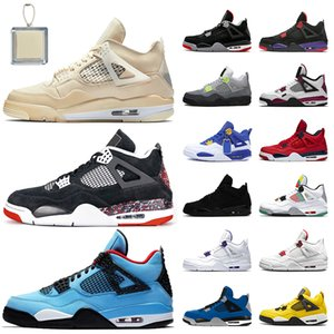 Wholesale curry 4 for sale - Group buy Luxury Designer New Jumpman Sail Splatter Travis Scott Women Mens basketball shoes s Bred Neon PSGs Curry FIBA sneakers trainers