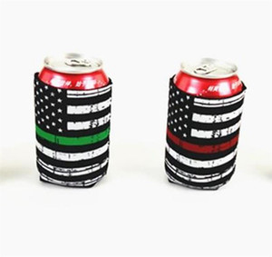 Wholesale cans sodas for sale - Group buy Neoprene Cans Cup Sleeve Soda Cover American Flags Printing Insulated Cooler Cup Sleeve Bottle Holder Cool Can Holder IIA275
