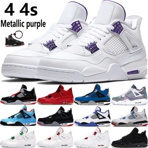 2020 new 4 4s Jumpman basketball shoes metallic purple red green bred OVO Splatter black cat what the men mens sport Sneakers