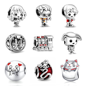 free shipping moq new original harry style Ron Weasley Express Train Dobby the House Elf diy bead fit Pandora charms Bracelet D094