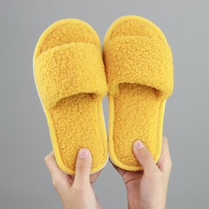 Wholesale warm indoor shoes children resale online - 2020 New Winter Indoor Slippers Children Simple Solid Wool Slippers Baby Warm Home Shoes Baby Non slip Boys Slipper