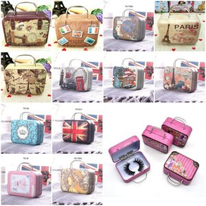 Wholesale cases suitcases for sale - Group buy Retro Luggage Lashes suitcase False Eyelashes Box D Mink Eyelashes Case Mink Lashes Package Lash Boxes Gifts Packaging Box Iron Boxes