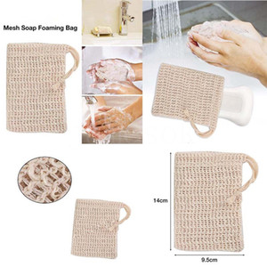 Natural Exfoliating Mesh Soap Saver Sisal Soap Saver Bag Pouch Holder For Shower Bath Foaming And Drying DA647