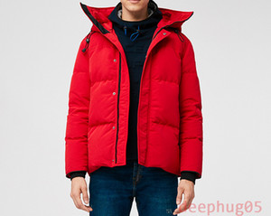 New winter men's down jacket down parka Waterproof cloth No Wolf fur collar medium to thick style down jacket