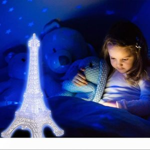 Wholesale eiffel tower christmas decorations for sale - Group buy BRELONG Eiffel Tower Night Lights Acrylic Multicolor Illuminated Desk Night Lights Children Christmas Gifts Holiday Bedroom Decoration Light