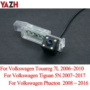 Wholesale volkswagen vision resale online - YAZH For Volkswagen Beetle Touareg Tiguan Phaeton Car Rear View Camera trasera Backup Parking Camera LED Night Vision