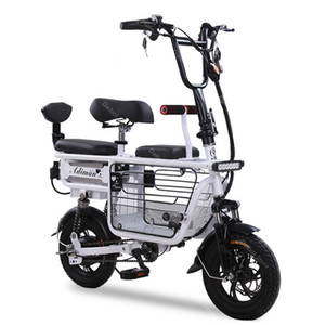 Wholesale baskets for bikes resale online - New E Bike Scooter Portable Electric Bicycles Inch V W Electric Scooter Seat For Kids Adult Removable Battery Pet Basket