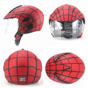 Wholesale spider motorcycle resale online - Four Seasons Windproof Childrens Helmet Boys And Girls Helmet Electric Motorcycle Kids Spider Web Carbon Fiber Motorcycle Helmet Carbo bteT