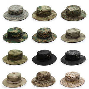 Wholesale bonnie hats for sale - Group buy Hiking Camping Huting Jungle Bonnie Army Camouflage Cap Plaid Cloth Men Hats Quick Dry Sun Fshing Outdoor Tactical Hat