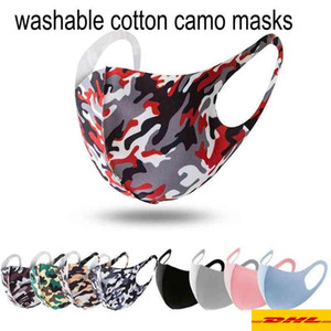 US Stock 3D camo Designer Camouflage mask Washable Face mask Luxury Sunproof Dustproof Cycling Sports Mouth Cover Masks For Unisex
