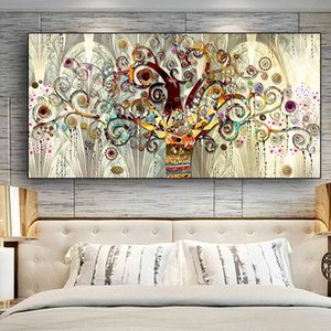 Wholesale tree life canvas print for sale - Group buy Gustav Klimt Tree of Life Classical Canvas Oil Painting Wall Art Abstract Poster Prints Scandinavian Wall Picture for Living Room Decoration