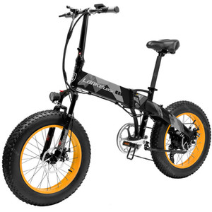 New Off Road Electric Bike Two Wheels Electric Bicycle 500W 48V 35KM H 10.4AH LANKELEISI XT2000 Fat Tire Snow Foldable Electric Scooter