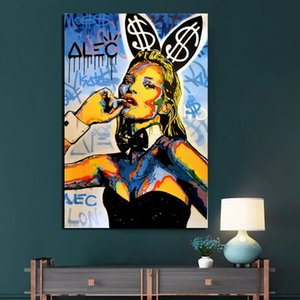 Wholesale canvas prints for kids room for sale - Group buy Alec Cartoon Catwoman Canvas Oil Painting Modern Graffiti Street Art Posters Prints Wall Art Pictures for Living Room Kids Room Home Decor