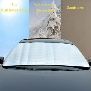 Wholesale car windshield shade cover resale online - Universal Car Ice Sunshade Cover Windshield Sun Shade Protection Cover For Most of Car Window Mirror Protector R20