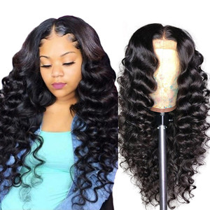 Wholesale lace wig frontal resale online - Water Human Hair Wigs Afro Kinky Curly Loose Deep Yaki Straight Lace Frontal Wigs Human Hair Lace Front Wigs