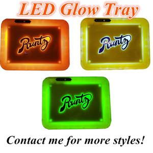 Rolling Tray LED Glow Trays Runtz Tray Rechargeable Dry Herb Rolling Storage Holder Backwoods E Cigarette Packaging Rolling Tray Multi-Color