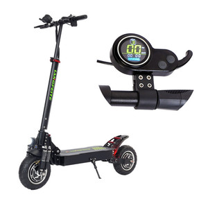 Wholesale engine plugs resale online - 800W Dual engine Foldable electric scooter Color display Dc Motor Km h V Top Speed Km Range Eu Plug Black