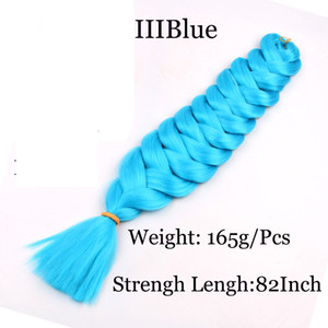 Synthetic Jumbo Braiding Twist Hair 82inch 165g Single Color Crochet Braids Synthetic Hair Extensions Factory Supply