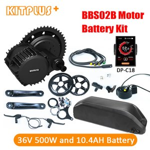Wholesale motorized bicycles kits resale online - Bafang Central Motor Fun V W BBS02 Electric Engine Kit for Motorized Bicycle Bike with Battery AH