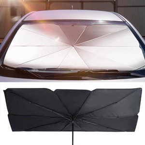Wholesale car windshield shade cover resale online - Car Windshield Sun Shade UV Rays And Heat Sun Visor Cover Protector Foldable Reflector Umbrella Portable Outdoor Umbrella