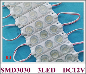 LED module lamp light with lens DC12V 75mm*20mm beam angle vertically 15 degree and horizontally 45 degree IP65 SMD 3030 3 led 3W