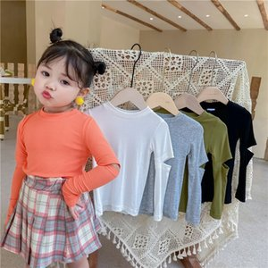 New INS Little girls t-shirt autumn pure cotton fashion  bountique clothes winter fall girls top 1-7 years