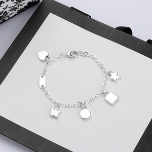 Wholesale stars jewelry resale online - High Quality Chain Silver Plate Bracelet Star Gift Butterfly Bracelet Top Chain Bracelet Fashion Jewelry Supply
