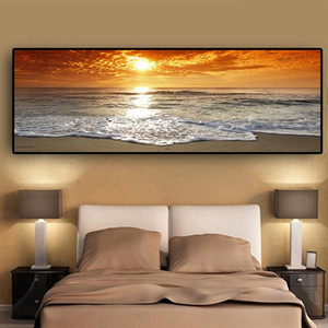 Wholesale beach decor picture frames for sale - Group buy Sunsets Natural Sea Beach Landscape Posters and Prints Wall Art Pictures Painting Wall Art for Living Room Home Decor No Frame