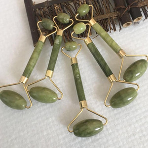 Wholesale jade facial rollers for sale - Group buy Natural Facial Massage Jade Roller Face Thin Massager Lose weight Beauty Care Roller Tool