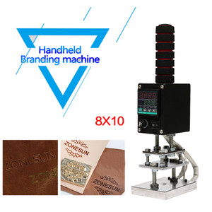 DHL Free! HandHeld hot foil Stamping Machine 5*7cm 8*10cm 10*13cm Handheld Embosser Wood Leather Tool Embossing Machine
