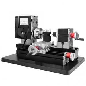 Wholesale lathe machines for sale - Group buy 60W V CNC Mini Metal Lathe DIY Woodworking Machine lathe Machine Variable Speed Milling Bench Top Digital RPM min