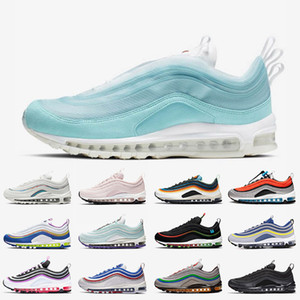 Wholesale mens cushion trainers resale online - Shanghai Kaleidoscope fashion designer cushion running shoes women mens trainers sneakers Barely Rose GS Sky Michigan Iridescent sport shoes