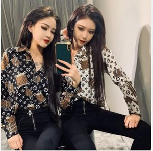 Early spring 2020 web celebrity fashionable printed long-sleeve designer blouse for women is free of shipping
