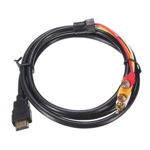 Wholesale hdmi stb cable for sale - Group buy 1 M Hdmi Male TO RCA RCA RCA AV Video Component Convert Cable Cord Adapter For DVD HDTV STB P