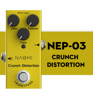 NAOMI Guitar Effects Pedal Crunch Distortion Effect Mini Single Distortion Pedal True Bypass NEP-03