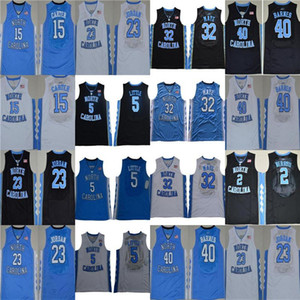 carolina del norte azul al por mayor-Vince Carter UNC Jersey Carolina del Norte Vince Carter Blue White Blanco NCAA College Basketball Jerseys Michael J College