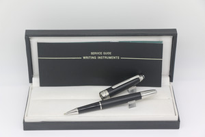 163 Roller pen Matte Bright black color with Silver trim Monte Collection pens stationery with Serial Number pen