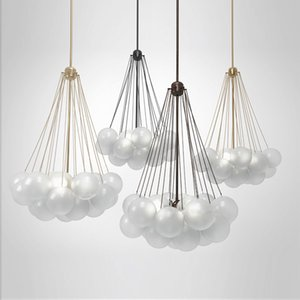 Wholesale modern classic pendant light resale online - Nordic Modern Simple Frosted Glass Ball Restaurant Pendant Lights Designer Children s Room Hanging Lamp Classic Led Lighting AC V