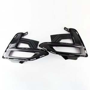 Wholesale x trail front resale online - 2PCS For Nissan X Trail Rogue Kicks Qashqai Sentra Car front Bumper fog light foglights frame fog lamps cover