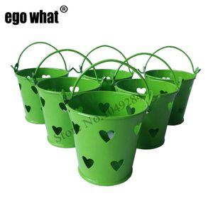 Free shipping wholesale cheap Cheap Mini Keg Metal buckets mini Pail small seed bucket cute Succlents pot Dot design nursery pots Home Decor