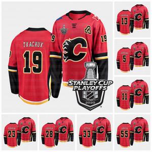 Calgary Flames 2020 Stanley Cup Playoffs Matthew Tkachuk Sean Monahan Sam Bennett Johnny Gaudreau Mikael Backlund Lanny McDonald Jersey