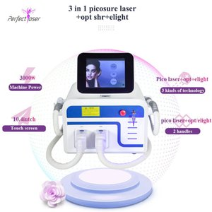 yag laser switch hair tattoo removal ipl machine 2 handles ce certification hair removal multifunctional beauty equipment free shipping
